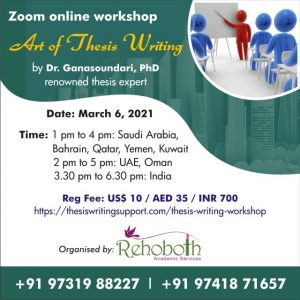Art of thesis Writing Workshop